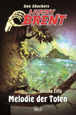 """Cover zu """"Larry Brent: Melodie der Toten"""", zeigt Farmhaus und Baum"""