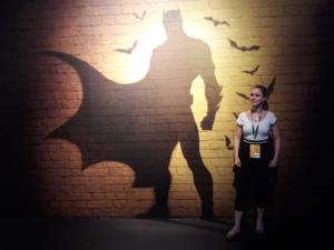 Ich mit Batmanschatten