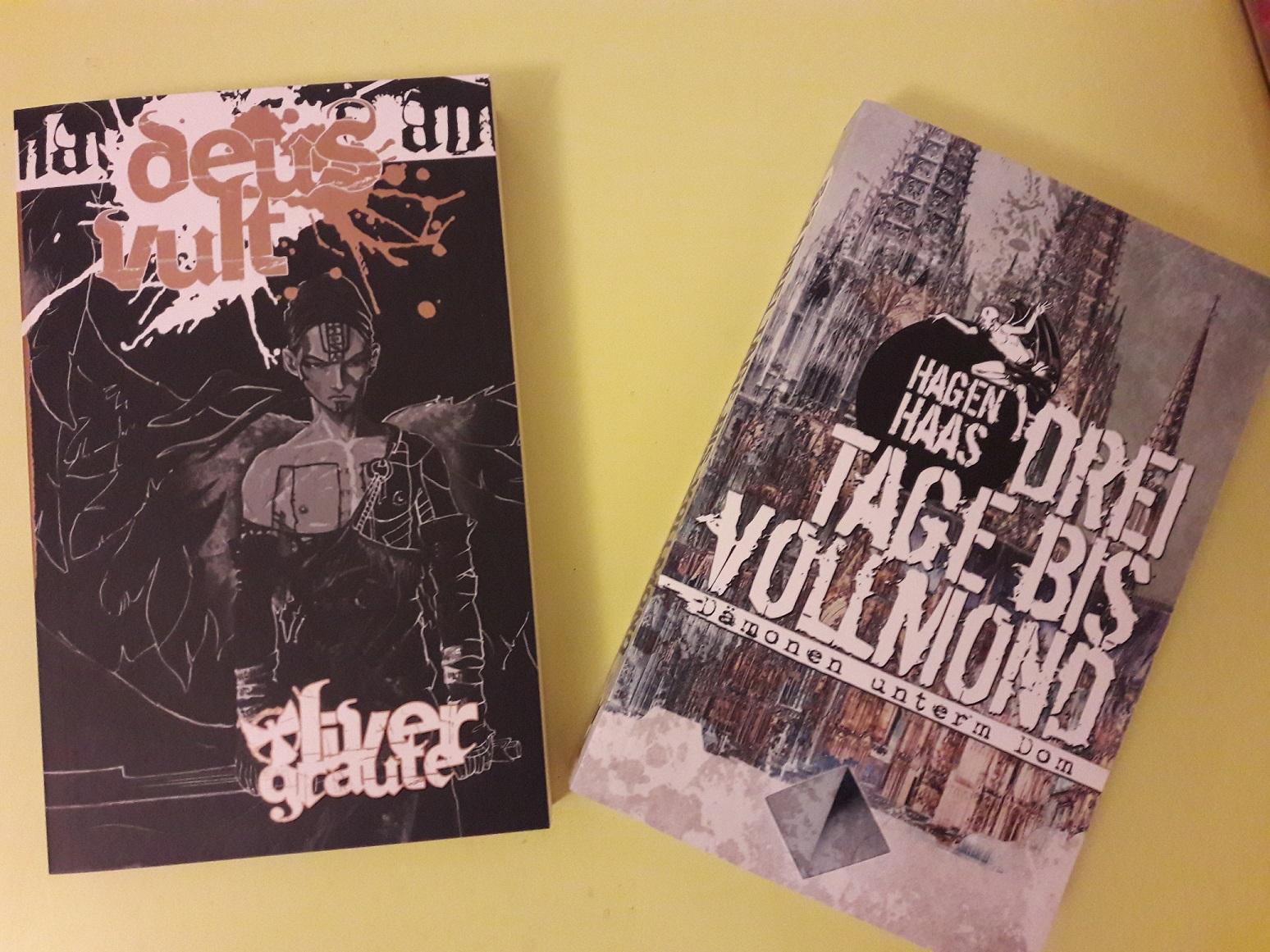 """Cover von """"Deus Vult"""" und """"Drei Tage bis Vollmond"""""""
