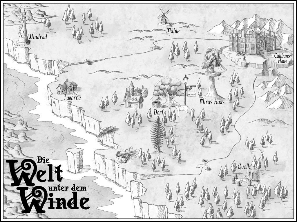 """Karte zum Buch """"Die Welt unter dem Winde"""""""